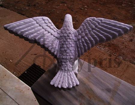 Handmade marble decorative Pigeon with Open Wings (same as .11), from a different view
