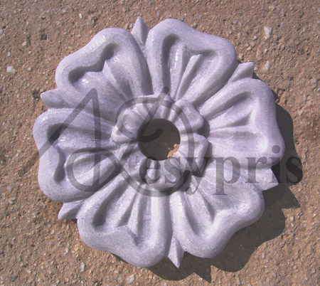 Handmade marble Fount with a Rosette