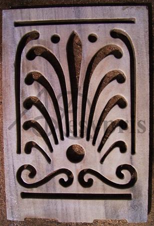 Handmade marble window, Aged