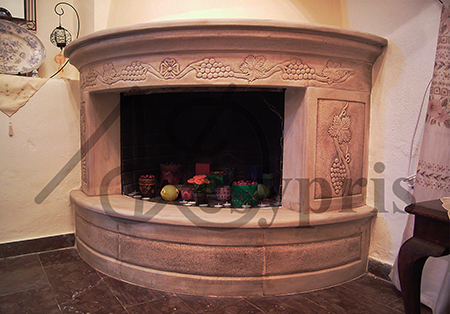 Handmade marble Fireplace with a Vine