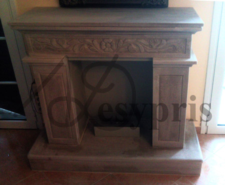 Handmade marble Fireplace with a Daisy