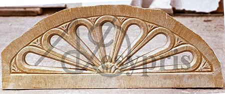 Handmade marble Lintel, Aged