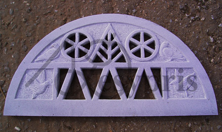 Handmade marble Lintel with Dovecote Designs and Pigeons